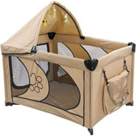 "High Quality Beige 45"" Dog Play Pen with Canopy"