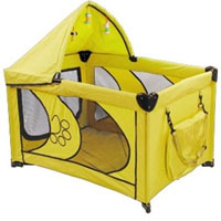 "High Quality Yellow 45"" Dog Play Pen with Canopy"