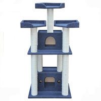 3-in-1 Cat Condo with Scratching Post