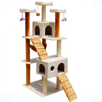 Gold and White Forest 6 in 1 Cat Tree House