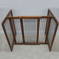 High Quality Large Wood-Wire 30 Inch Freestanding Pet Gates