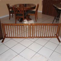 High Quality Large All Wood 21 Inch Freestanding Pet Gates