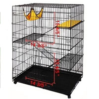 Black Super Four-level Cat Playpen Cage