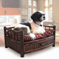 High Quality Bamboo Pet Bed with Cushion