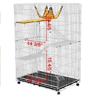 White Super Four-level Cat Playpen Cage