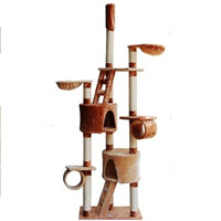 New 6-in-1 Cat Tree House with Scratching Post