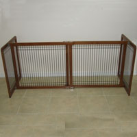 High Quality Small Wood-Wire 30 Inch Freestanding Pet Gates