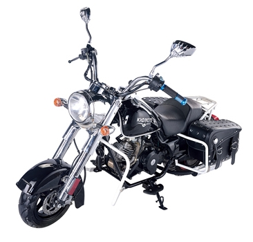 Exceptionnel 50cc Mini Bagger Custom Chopper With SaddleBags Half Size