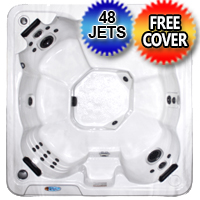 8 Person Non Lounger Hot Tub Spa With Walk In Steps w/ 48 Therapeutic Jets - GT 305