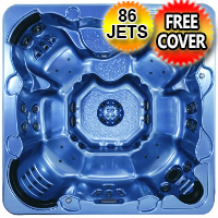 Moonstone Plus 3 - 8 Person Non Lounger Hot Tub Spa w/ 86 Therapeutic Jets & Walk In Steps