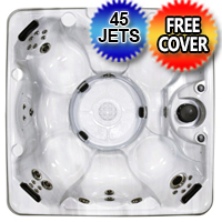 6 Person Non-Lounger European Style Hot Tub Spa w/ 45 Therapeutic Jets - Siena