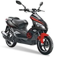 Brand New 2012 Sunny Ballistic 150cc Fully Assembled Sportbike-Inspired Stylish Gas Scooter