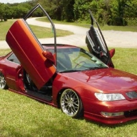 Brand New Acura CL 1996-1999 Bolt On Lambo Vertical Doors Kit