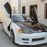 Brand New Hyundai Tiburon 2000-2001 Bolt On Lambo Vertical Doors Kit