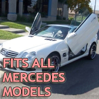 Brand New Mercedes Benz Bolt On Lambo Vertical Doors Kit - Fits All Models