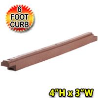 "4"" High x 6' Length X 3""  Width 30 lbs. Flexible Rubber Border - 1 curb = 5.66 linear feet"