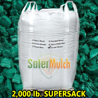 Forest Green Rubber Mulch Shredded Mulch - Painted For Playgrounds and/or Landscaping (ASTM F-3012 CERTIFIED) - Forest Green