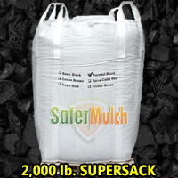 Painted Black Rubber Mulch Shredded Mulch - Painted For Playgrounds and/or Landscaping (ASTM F-3012 CERTIFIED) - Painted Black