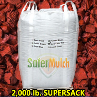 Terracotta Red Rubber Mulch Shredded Mulch - Painted For Playgrounds and/or Landscaping (ASTM F-3012 CERTIFIED) - Red
