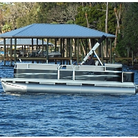 2014 21' x 8.5' Rear Entry Fish & Cruise Pontoon Boat