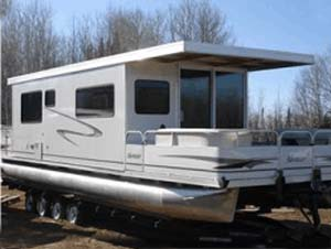 10 X 35 Day Boat Pontoon Houseboat W Trailer Motor