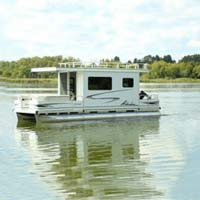 8' X 26' Day Boat Pontoon Houseboat w/ Trailer + Motor
