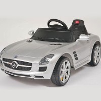 Kids Ride On Power Wheels Remote Silver Mercedes Benz Licensed Car