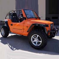 800cc Orange Oreion Sand Reeper 4 x 4 Street Legal UTV