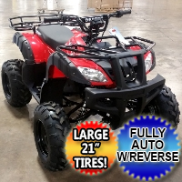 "Desert 150cc ATV Fully Automatic w/Reverse & Large 21"" Tires!"