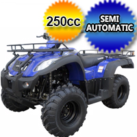 250cc Canyon Atv Four Wheeler - Semi Automatic With Reverse Full Size