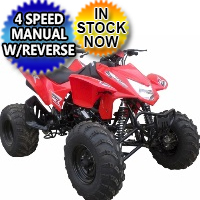 Brand New Tornado 250cc Sport ATV Air Cooled 4 Stroke Four Wheeler