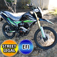 250cc Hawk Deluxe EFI Edition Dirt Bike 5 Speed Manual With Electric / Kick Start Street Legal - Hawk DLX 250 EFI