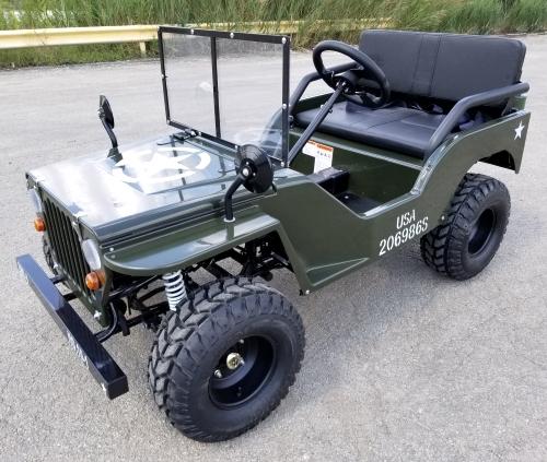 125cc Mini Jeep Gas Golf Cart Utility Vehicle Semi Auto With Reverse