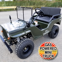 125cc Mini jeep Gas Golf Cart Utility Vehicle - Semi Auto With Reverse jeep125