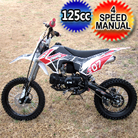 125cc Dirt Bike 4 Speed Manual Air Cooled Pit Bike - RPS07