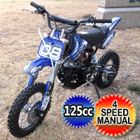 125cc Dirt Bike 4 Speed Manual Air Cooled Pit Bike - RPS08