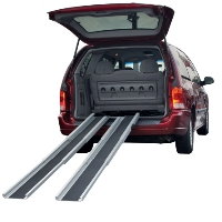 Brand New High Quality Telescoping Wheelchair Ramp