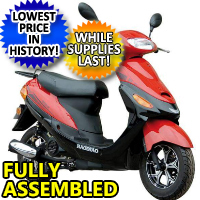50cc 4 Stroke Boom Moped Scooter PYT