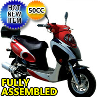 50cc 4 Stroke Boom VIP Moped Scooter