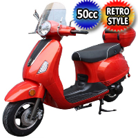 Brand New 50cc 4 Stroke Single Cylinder Moped Scooter - MC-130-50cc