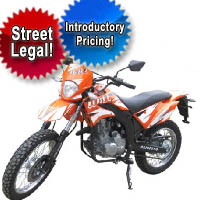 200cc 4 Stroke Street Legal Dirt Bike Motorcycle