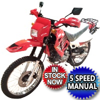 250cc Dirt Bike 4 Stroke 5 Speed Manual w/ Electric Start - DB-07K-250
