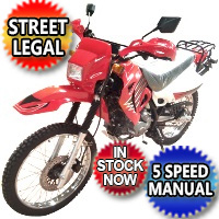 250cc Enduro Street Legal Dirt Bike 4 Stroke 5 Speed Manual w/ Electric Start - DB-07K-250