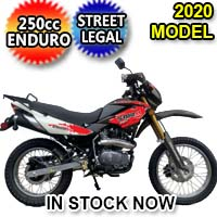 Brand New 2020 250cc Enduro Storm 4 Stroke Street Legal Dirt Bike Motorcycle DB-08-250