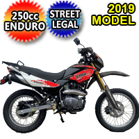 Brand New 2019 250cc Enduro Storm 4 Stroke Street Legal Dirt Bike Motorcycle DB-08-250