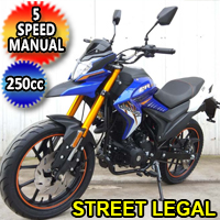 250cc 4 Stroke 5 Speed Manual Dirt Bike Motorcycle - DB-47-250