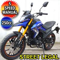 250cc 4 Stroke 5 Speed Manual Dirt Bike Motorcycle - DB-47-250
