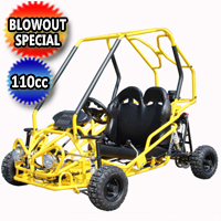 Brand New 2015 110cc Go Kart with Rear Disc Brakes - GK-64-110