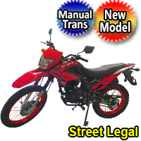 Hawk 2 ELITE - 250cc Enduro Dirt Bike 5 Speed Manual With Electric / Kick Start Remote Start / Alarm Street Legal - Model DB-41HC-250