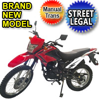 Hawk 2 - 250cc Enduro Dirt Bike 5 Speed Manual With Electric / Kick Start - Model DB-41H-250